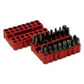 Набор бит универсальных магнитный адаптер SANTOO (33 предмета в резиновом боксе)